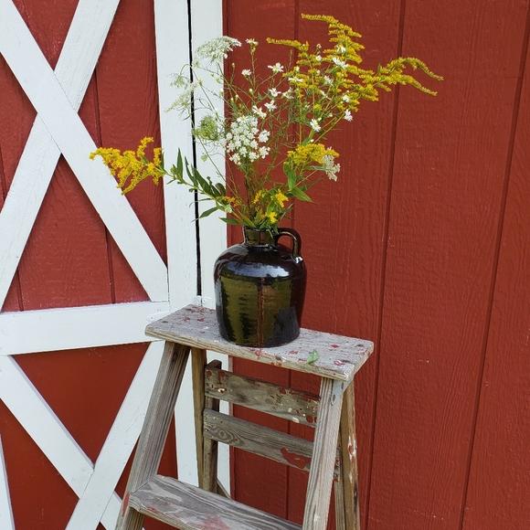 Brown stoneware jug